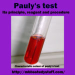 Pauly's test – Its principle, reagent and procedure