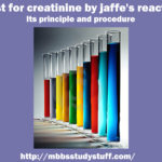 Test for creatinine by jaffe's reaction – Its principle and procedure