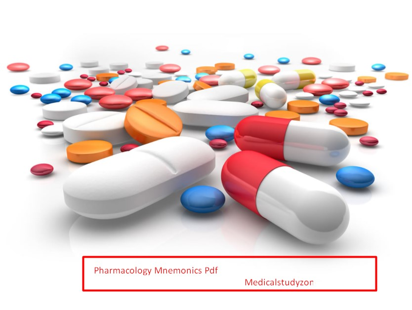 Pharmacology Mnemonics Pdf