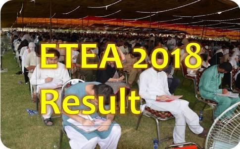 Etea medical entry test result 2018