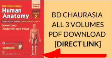 Download BD Chaurasia Human Anatomy PDF All Volumes Free