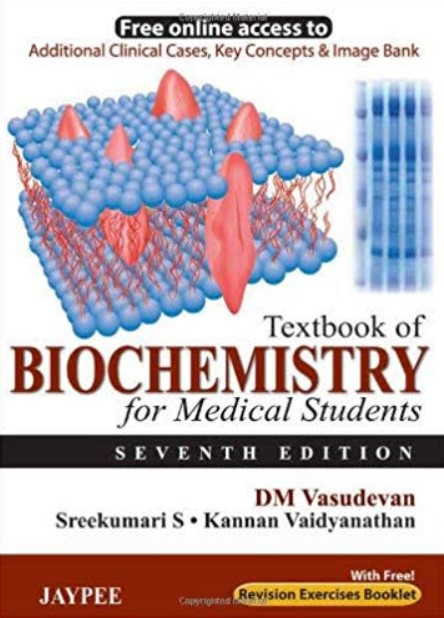 Download DM Vasudevan Biochemistry PDF FREE - Medical Study Zone