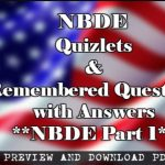 Download Quizlets and Remembered Questions with Answers PDF for NBDE Part 1