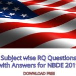 Download Subject wise RQ Questions with Answers for NBDE 2020 Exams