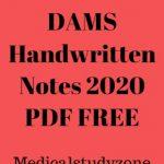 Download DAMS Handwritten Notes 2020 PDF FREE