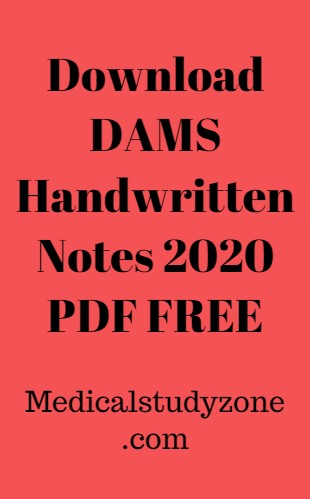 Download DAMS Handwritten Notes 2021 PDF FREE