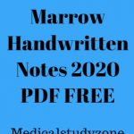 Download Marrow Handwritten Notes 2020 PDF FREE