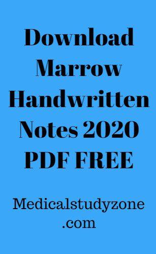 Download Marrow Handwritten Notes 2021 PDF FREE