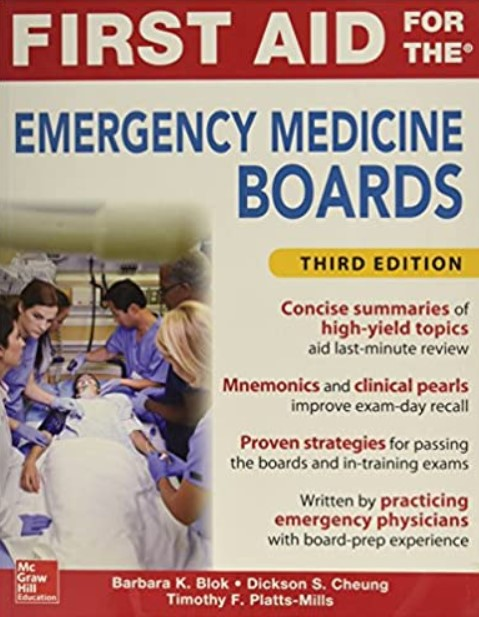 First Aid for the Emergency Medicine Boards 3rd Edition PDF Free Download