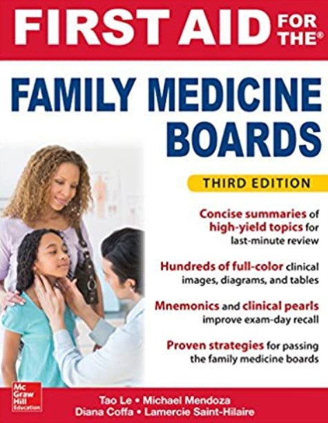 First Aid for the Family Medicine Boards 3rd Edition PDF Free Download