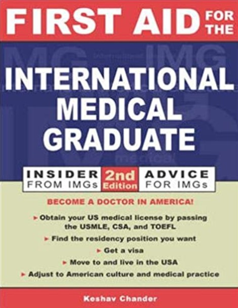 First Aid for the International Medical Graduate 2nd Edition PDF Free Download