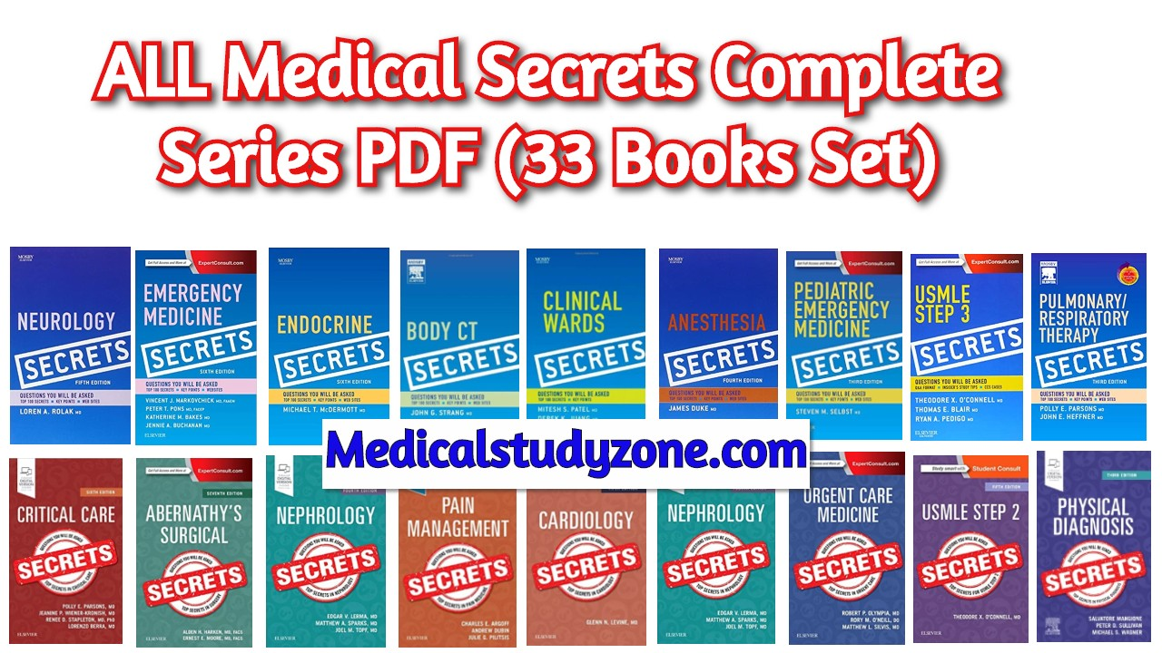 ALL Medical Secrets Complete Series PDF 2020 Free Download