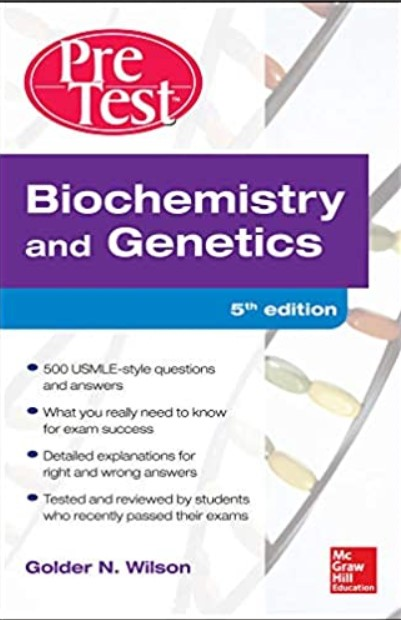 Biochemistry and Genetics Pretest Self-Assessment and Review 5th Edition PDF Free Download