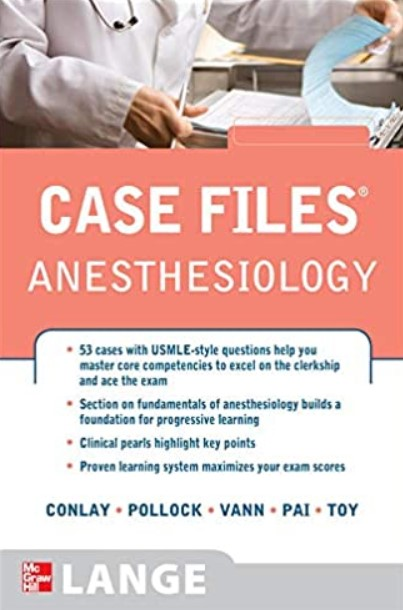 Case Files Anesthesiology PDF Free Download