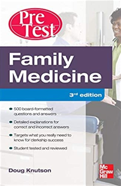 Family Medicine PreTest Self-Assessment And Review 3rd Edition PDF Free Download