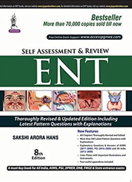 Self Assessment and Review ENT 8th Edition PDF Free Download