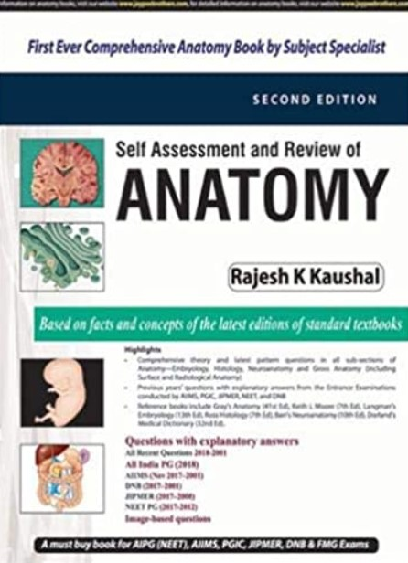 Self Assessment and Review of Anatomy 2nd Edition PDF Free Download
