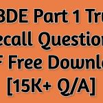 NBDE Part 1 True Recall Questions 2021 PDF Free Download [15K+ Q/A]