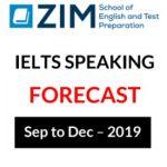 ZIM IELTS Speaking Part 1 & 2 Sep – Dec 2019 PDF Free Download