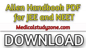 Allen Handbooks PDF 2021 [Complete Series] for JEE and NEET Free Download
