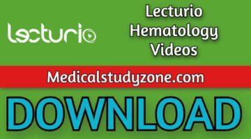 Lecturio Hematology Videos 2021 Free Download