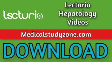 Lecturio Hepatology Videos 2021 Free Download