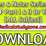 Notes & Notes Series For MRCP Part I & II 2021 Dr Yousif [ALL Subject] PDF Free Download