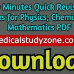Download 30 Minutes Quick Revision Books for Physics, Chemistry & Mathematics PDF 2020 Free